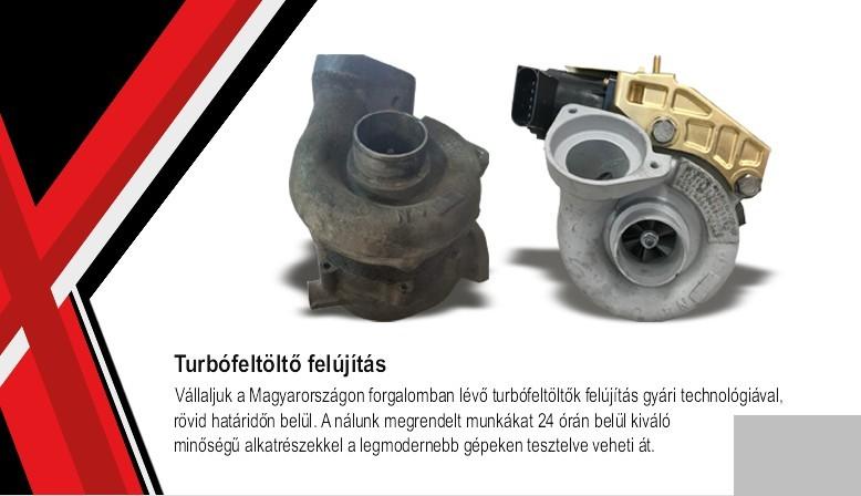 Vállaljuk a Magyarországon forgalomban lévő turbófeltöltők felújítás gyári technológiával rövid határidőn belül.