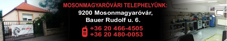 MOSONMAGYARÓVÁRI TELEPHELYÜNK: 9200 Mosonmagyaróvár Bauer Rudolf u. 6.