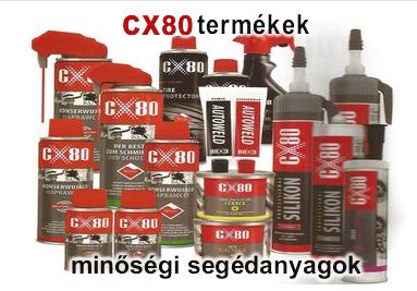 CX80 minőségi segédanyagok